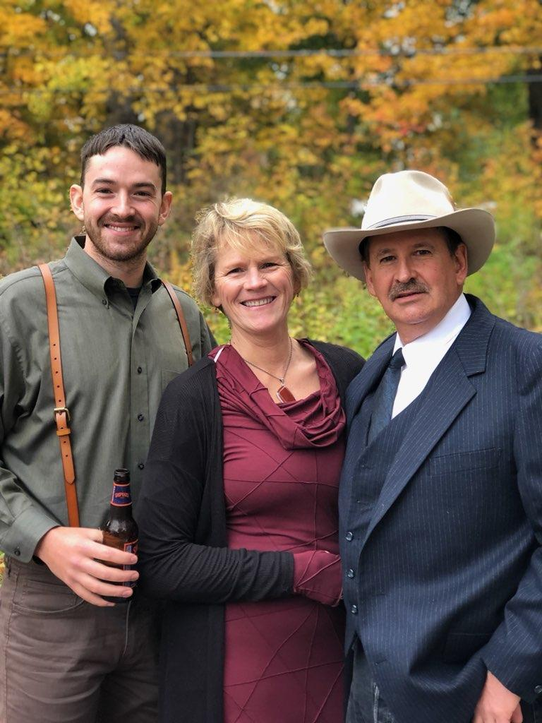 Commissioner Zylawy, Mineral County, with his son and wife.