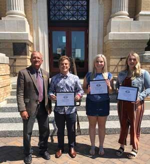 MACo President, Shane Gorder, and Scholarship Awardees